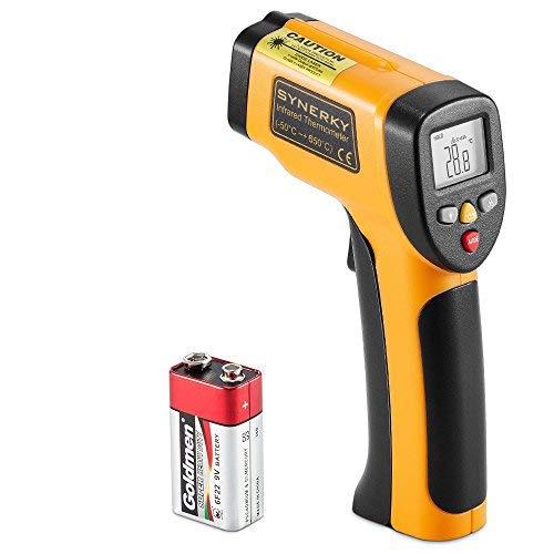 SYNERKY Termómetro infrarrojo láser sin Contacto, Láser Digital Pistola de Temperatura IR con Pantalla LCD retroiluminada HD -58 ℉ - 1202 ℉ (-50 ℃ a 650 ℃)