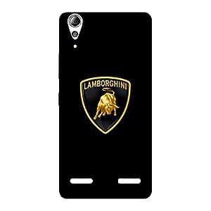 Premium Lambo Golden Back Case Cover for Lenovo A6000 Plus