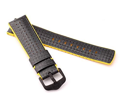 mance Uhrenarmband Modell Ayrton 24 mm Schwarz/gelb ()