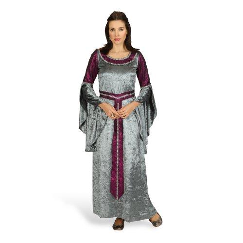 (Hofdame Mittelalter Kostüm für Damen - Silber Bordeaux Gr. 44 46)