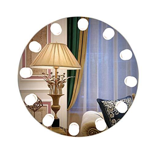 Espejo de baño Iluminado LED Moderno, Redondo, montado en la Pared, Espejos...