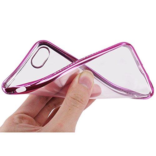Custodia iPhone 7, Cover iPhone 7, Yoowei® diamante di Bling Custodia Chiaro Cristallo Ultra Sottile Morbido Placcatura TPU Gel Case Cover per iPhone 7 4.7, Nero Rose