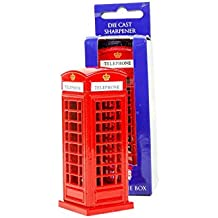 Unique Diecast Metal London England Britain Red Telephone Phone Box / Phone Booth Pencil Sharpener,