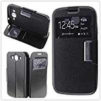 MISEMIYA - Funda SAMSUNG GALAXY GRAND NEO (I9060) / GRAND NEO PLUS (I9060I) - Funda Solo, Libro View Sporte,Negro