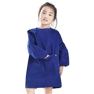 Malschürze, Kinder Bastelkittel, Kinderschürze (2-6 Jahre, blau)