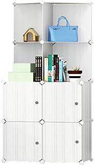 Cubic Cabinet, Off White, H 147 x W 37 x D 76 cm