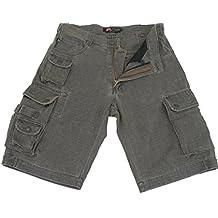 Kakadu Traders Cargo Pantalones Cortos Utility Short, hombre, color espresso, tamaño small