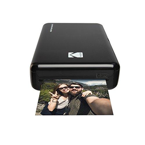 Kodak Drucker Photo Mini 2HD Instant Wireless und Mobile mit Drucktechnologie patentierte 4Pass–Kompatibel mit iOS und Android–Schwarz