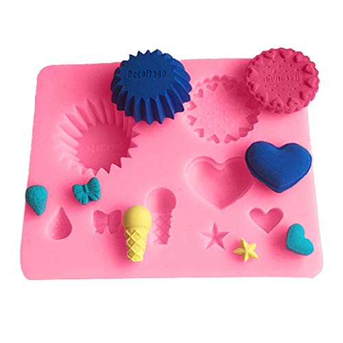 Muffin - Silicone Mold Cake Dessert Mould Waffle Biscuit Cookie Fondant Love Star Heart Pattern Decoration - Name Machine Molds Nozzles Animal Vehicles Couplers Storage Powder Glitter Cutters L (Bubble Machine Review)