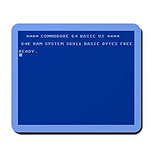 CafePress Commodore 64 Tappetino per mouse misura Standard, colore: Multicolore