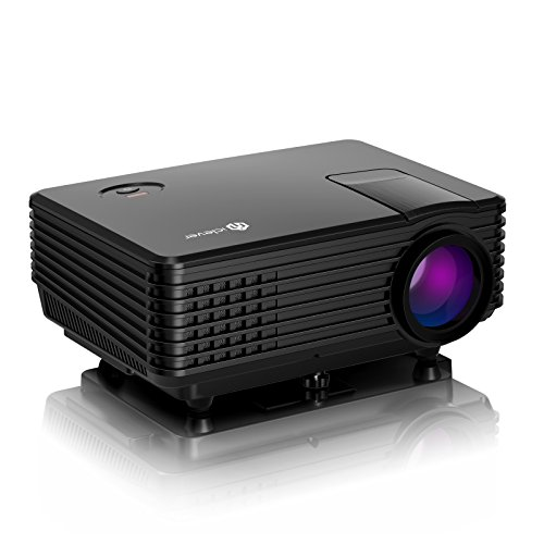 Video Projector, iClever Multimedia Portable LED Projector HD Video Projector Home Cinema with HDMI Support 1080P VGA USBHDMI USB VGA AV SD TV Laptop for Entertainment Game Party (Entertainment Laptop)