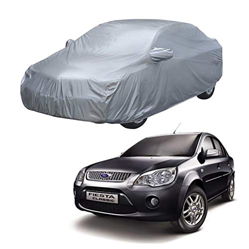 AutoRetail Car Body Cover for Ford Fiesta (with Mirror Pocket) (Silver Matty)