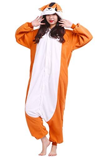 Kigurumi Pijama Animal Entero Unisex para Adultos con Capucha Cosplay Pyjamas Ardilla Ropa de Dormir Traje de Disfraz para Festival de Carnaval Halloween Navidad