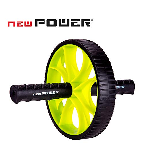 NEWPOWER - Rueda Abdominal Fitness 4 en 1, Compacta y Estable, con Resistentes...