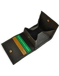 Porte-monnaie type Cuvette / Porte-billets / Porte-cartes - Homme - Idéal Poche Pantalon - Cuir de Vachette véritable
