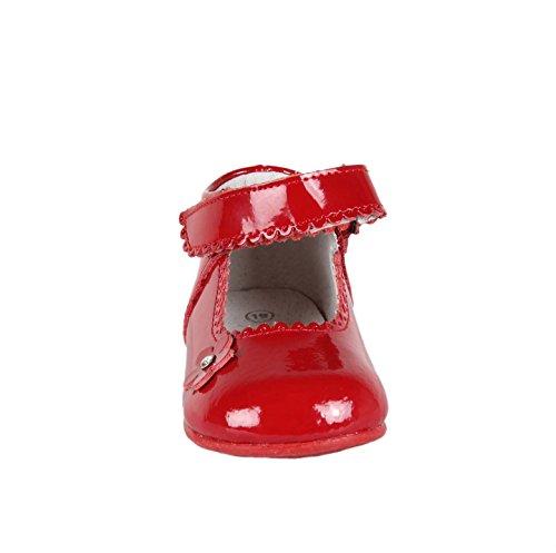 Babies en cuir vernis - bébé fille Rouge