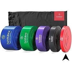 Bande élastique Fitness + Livre d'Exercices - Aide Pull-up | Câble de résistance Sport pour Musculation, Crossfit, Boxe, Yoga, Pilates, tractions, Stretching | Boucle idéale renforcement Musculaire