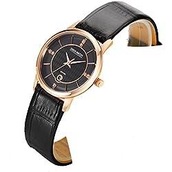 Ladies slim watch/Simple casual female form/Quartz water resistant watch-A