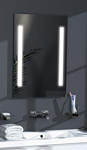 Talos LED-Spiegel Sky– Warmweiß beleuchteter Spiegel für das Badezimmer - 50x70 cm großer Wandspiegel – Glas-Beleuchtung für angenehmes Licht im Bad – Modernes Design und hochwertige Materialien