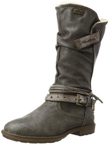 Mustang Mädchen 5043-602 Stiefel, Grau (Dunkelgrau), 33 (Stiefel Kinder)