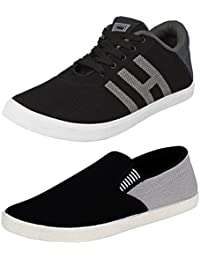 Maddy Combo Pack of 2 Loafer Shoes For Men's In Various Sizes