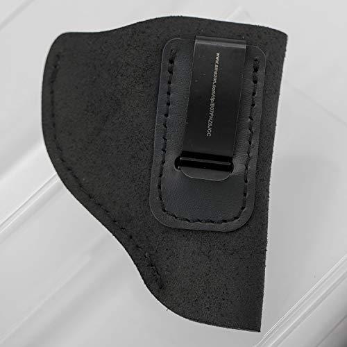 MAYMOC Wildleder IWB passend für S & W M & P Shield - Glock 17 19 26 43 / Springfield XD & XDS/H & K VP9 & alle ähnlichen Handfeuerwaffen (Holster Xd 45)