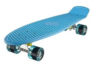 Ridge Retro 27 Skateboard complet Bleu/Bleu Transparent 27'' x 7,5'' - 69 cm