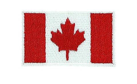 Patch écusson brodé Drapeau canada canadien thermocollant backpack sac à dos 7x5