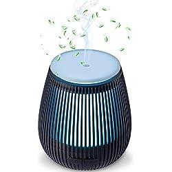 Beschoi Diffuseur Huiles Essentielles USB 100ml Humidificateur d'air 7-Couleurs Changeantes pour Chambre SPA Yoga Bureau Maison Salon Voiture Toilettes