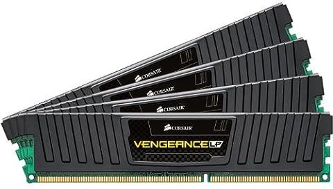 Corsair CML32GX3M4A1600C10 Vengeance Low Profile 32GB (4x8GB) DDR3 1600Mhz CL10 XMP Performance Desktop Memory Schwarz