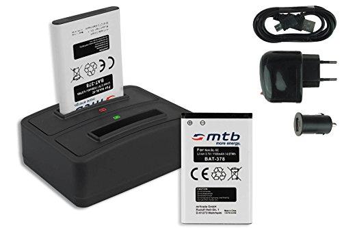 2x Akku + Dual-Ladegerät (Netz+Kfz+USB) CT-3650 für Contour+2, ContourHD 1080P... / Toshiba PX1728, Camileo P100... / Aiptek - s. Liste