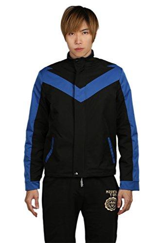 Superheld Jacke Cosplay Kostüm Erwachsener Herren Langarm Sweatshirt Halloween Fancy Dress Collar Reißverschluss (Kind Nightwing Kostüm Für)