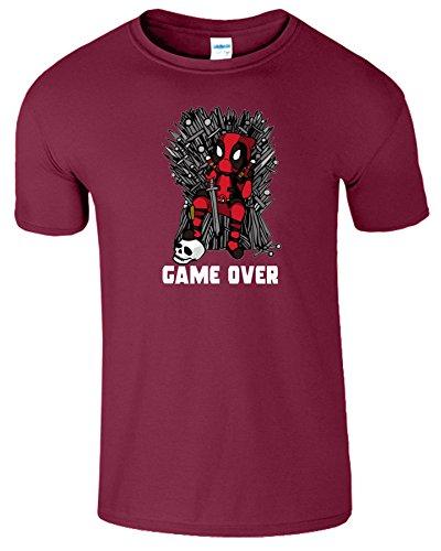 Deadpool Herren Thrones Parodie Spiel Zu Ende Kinder T-Shirt Kastanienbraun