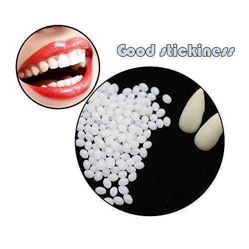 TianranRT Vorübergehend Zahn Reparatur Kit Zähne und Lücken Falsch Zähne Solide Kleber Zahnersatz Klebstoff (100G)