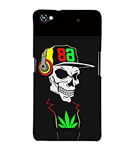 Fabcase Skull Weed Music Addicter Designer Back Case Cover for Micromax CanvasHue2A316