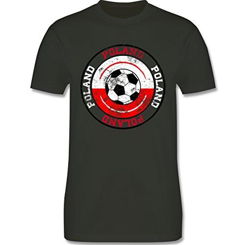 EM 2016 - Frankreich - Poland Kreis & Fußball Vintage - Herren Premium T-Shirt Army Grün