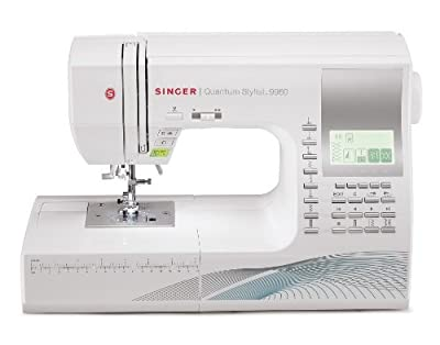 Singer Quantum Stylist 9960 - Máquina de coser computarizada, 600 programas, color blanco de Singer