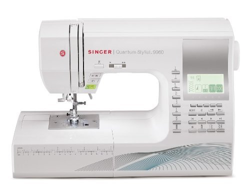 Singer Quantum Stylist 9960 - Máquina de coser computarizada, 600 programas, color blanco