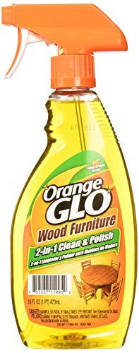 Orange Glo Wood Furniture 2 in 1 Clean , Polish Spray Bottle 473 millilitre with Ultra Plush Microfiber Cloth