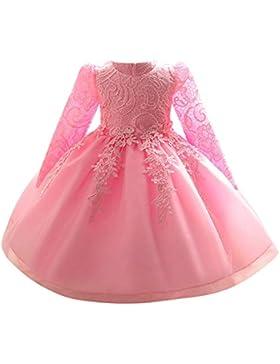 Riou Weihnachtskleid Mädchen Prinzessin Spitzenkleid Lang Weihnachten Kinder Baby Leistung Formal Tutu Mini Ballkleider...