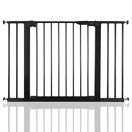 BabyDan Premier - Bebé Puerta de la Escalera Barrera de Seguridad Negro, 105,5 - 112,8cm
