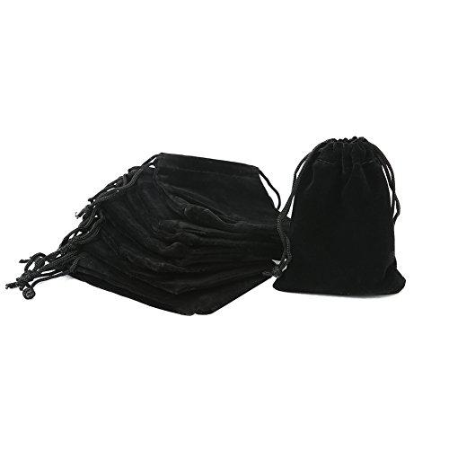 Shintop Sacchetti in velluto con chiusura a cordoncino, per confezione regalo per gioielli, 10 pezzi