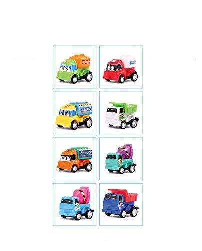 AOTE-D kleine Spielzeug LKW Müllwagen Zement LKW Zement Tanker 8 Stück Set Junge Mädchen Engineering Fahrzeug Spielzeugautos Spielzeugauto Baufahrzeug LKWs,A