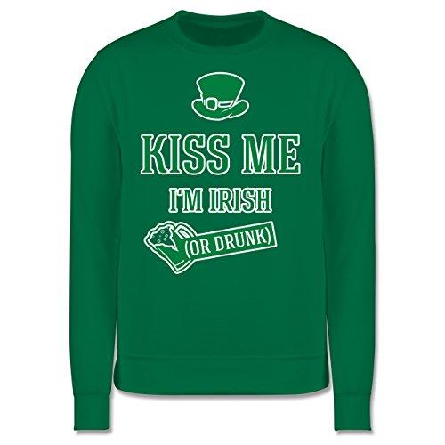 Festival - St. Patricks Day Kiss me I'm Irish or drunk - Herren Premium Pullover Grün