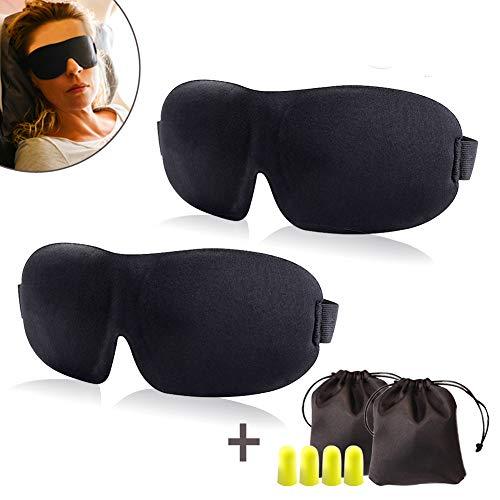 Augenmaske Schlaf Eyeshade 3D Augenschutz (2 Stück)