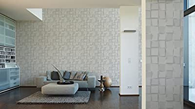 A.S. Création Vliestapete Authentic Walls Tapete in 3D Optik 10,05 m x 0,53 m grau weiß Made in Germany 302501 30250-1 von A.S. Création bei TapetenShop