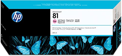 HP N°81 Cartouche d'encre d'origine Magenta clair C4935A