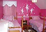 wandaufkleber babyzimmer mädchen Ballerinas für Bella Girls Room