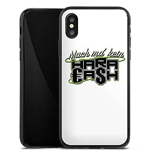 Apple iPhone X Silikon Hülle Case Schutzhülle Elotrix Fanartikel Merchandise Haracash Silikon Case schwarz