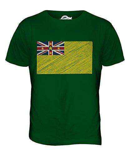 CandyMix Niue Kritzelte Flagge Herren T Shirt Flaschengrün